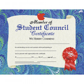 "Member of Student Council Certificate, 8.5"" x 11"", Pack of 30"