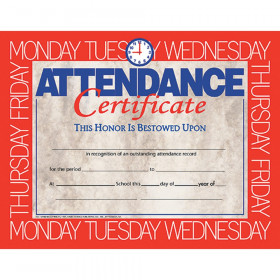 "Attendance Certificate, 8.5"" x 11"", Pack of 30"