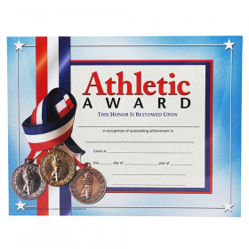 """Athletic Award Certificate, 8.5"""" x 11"""", Pack of 30"""