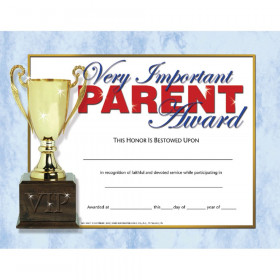 "Very Important Parent Award, 8-1/2"" x 11"", 30/pkg"