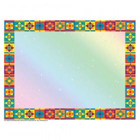 """Multicolored Border Certificate, 8-1/2"""" x 11"""", 50/pkg"""