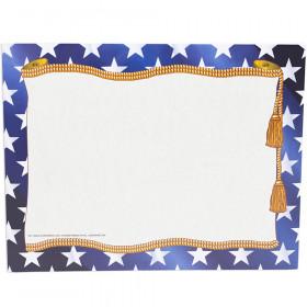 """Stars Border Certificate, 8-1/2"""" x 11"""", 50/pkg"""