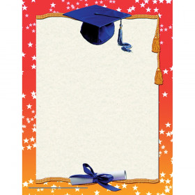 "Graduation Border Certificate, 8-1/2"" x 11"", 50/pkg"
