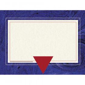 "Blue Marble Border Certificate, 8-1/2"" x 11"", 50/pkg"