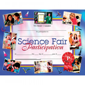 Science Fair Participation 30Pk 8.5 X 11 Certificates Inkjet Laser