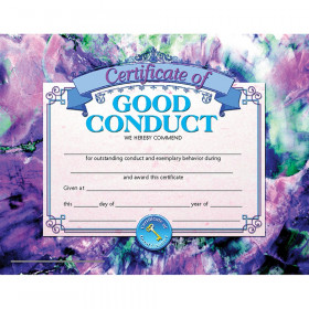 """Certificate of Good Conduct, 8-1/2"""" x 11"""", 30/set"""