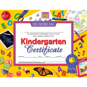 "Kindergarten Certificate, 8.5"" x 11"", Pack of 30"