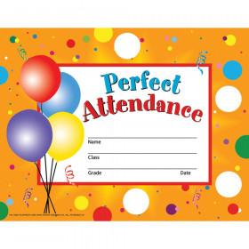 "Perfect Attendance Certificates & Reward Seals - 30 8.5"" x 11"" Certificates, 160 Seals"