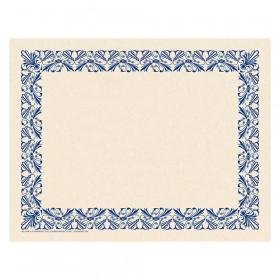 Art Deco Border Paper, Blue