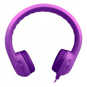 Flex-Phones Indestructible Foam Headphones, Purple