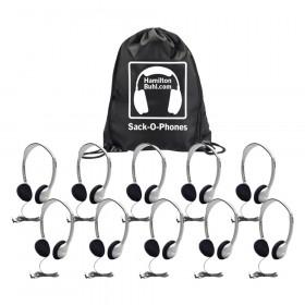 Sack O Phones 10 Ha2 Personal Head Sets Foam Ear Cushions In Bag