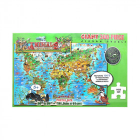 Dinos Childrens Illustrated 300Pc Jigsaw Puzzle Animals Of The World