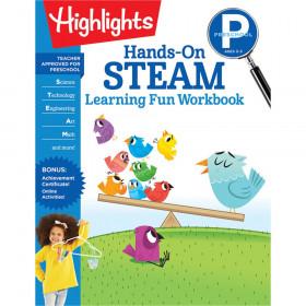Hands-On STEAM Learning Fun Workbook, Preschool
