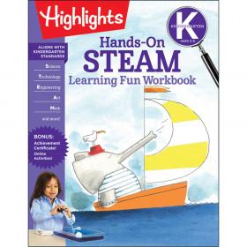 Hands-On STEAM Learning Fun Workbook, Grade K