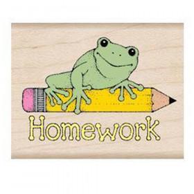 Homework Frog Stamp