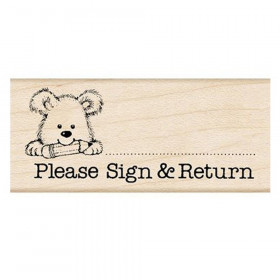 Please Sign & Return Pup Stamp