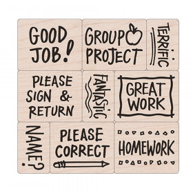 Big 'n' Little Notes From The Teacher Stamps, Set of 9