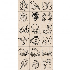 Ink 'n' Stamp Nature Stamps, Set of 18