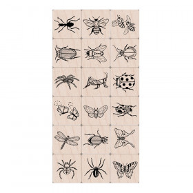 Ink 'n' Stamp Bugs Stamps, Set of 18