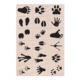 Ink 'n' Stamp Animal Prints Stamps, Set of 18