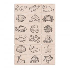 Ink 'n' Stamp Sea Life Stamps, Set of 18