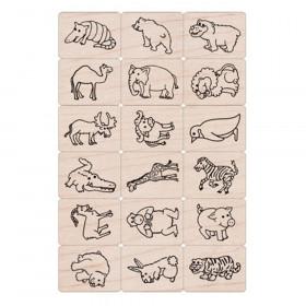 Ink 'n' Stamp Fun Animals Stamps, Set of 18