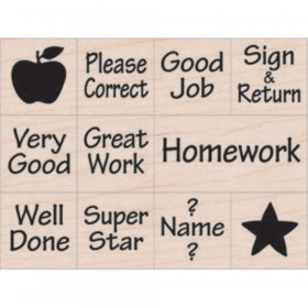 Nearly Tiny Messages From Your Teacher Stamps, Set of 11