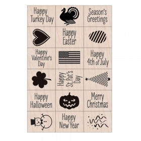 Ink 'n' Stamp A Year of Holidays Stamps, Set of 18