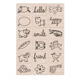 Ink 'n' Stamp Happy Animals Stamps, Set of 18