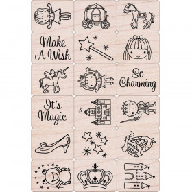 Ink 'n' Stamp Fairy Princess Stamps, Set of 18