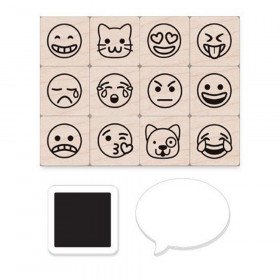 Emoji Icons Stamps Mini Tub, Set of 12