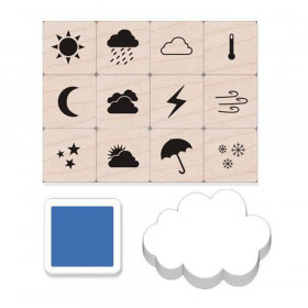 Weather Icons Stamps Mini Tub, Set of 12