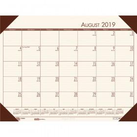 Academic Ecotones Calendar Desk Pad, Cream paper/Brown holder