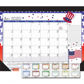 "Monthly Academic Deskpad Calendar, Seasonal Holiday Depictions, 12 Months July-June, 22"" x 17"""