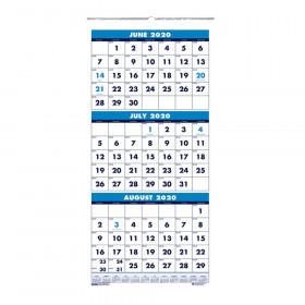 """Vertical Academic 3-Month Wall Calendar, June-July, 8"""" x 17"""""""