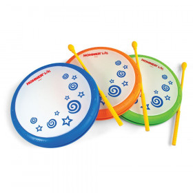Hand Drum with Mallet, Assorted Colors