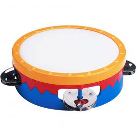6In Multi-Colored Tambourine
