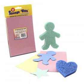 """Sponge 'Ums, 5"""" x 7"""", 4 Sheets (Cellulose Sponge)"""