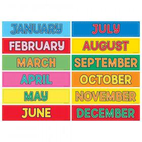 Monthly Calendar Cards, 12/pkg