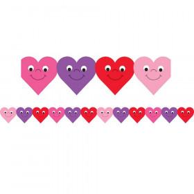 Happy Hearts Die-Cut Classroom Border, 12/pkg