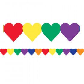 Multi-Color Hearts Border