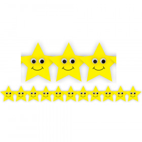 Happy Yellow Stars Die Cut Border