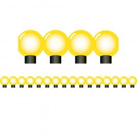 Yellow Bulbs Die Cut Border