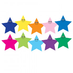 7In Multicolor Happy Stars Die Cut Accents