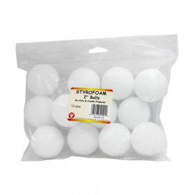 "Styrofoam, 2"" Balls, Pack of 12"