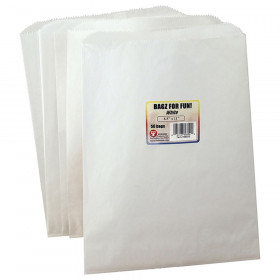 Colorful Paper Bags 8.5X11 White 50 Pinch Bottom