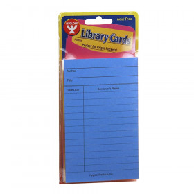 Bright Library Cards, Assorted Colors, 500 count