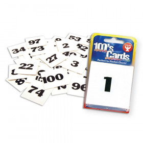 """100s Cards, Numbered 1-100, 2"""" x 2"""""""
