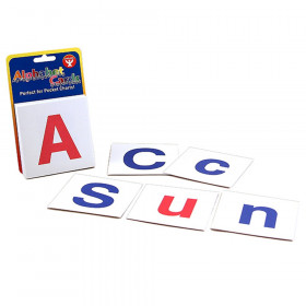 Combo Pack of Upper Case and Lower Case Alphabet Cards, 60 cards