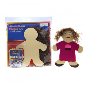 """Culturally Diverse People Kit, 7"""", 24/Pack"""